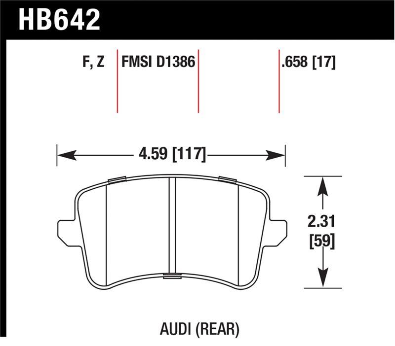 Hawk HB642F.658 High Performance Street Brake Pads