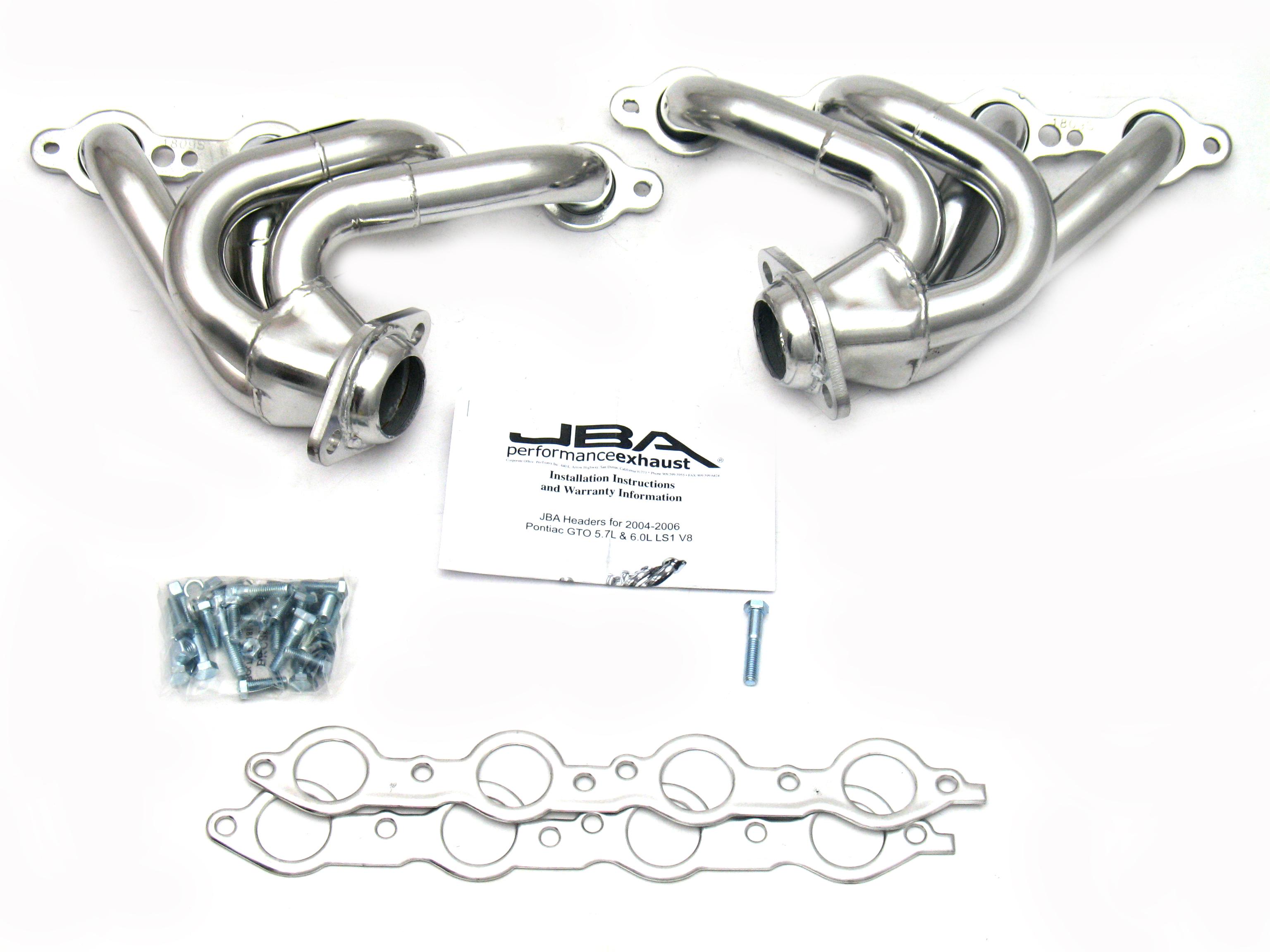 JBA Headers 1809SJS for 04-06 PONTIAC GTO 5.7L Silver