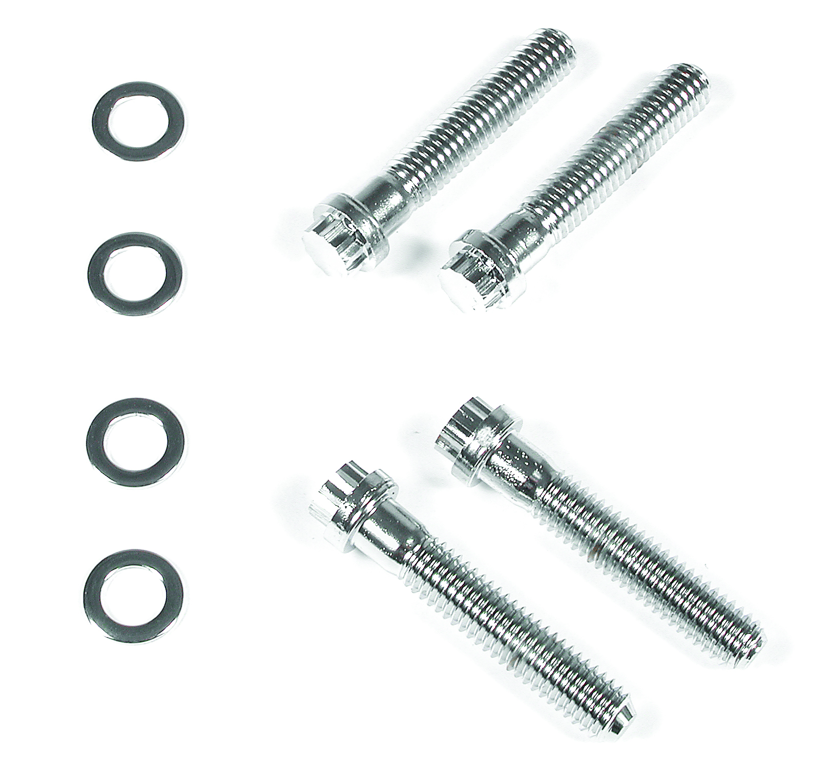 Mr Gasket Timing Cover Bolts Chrome Plated