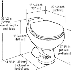 Sealand 302651001 Sealand 500 Series Gravity Toilet W