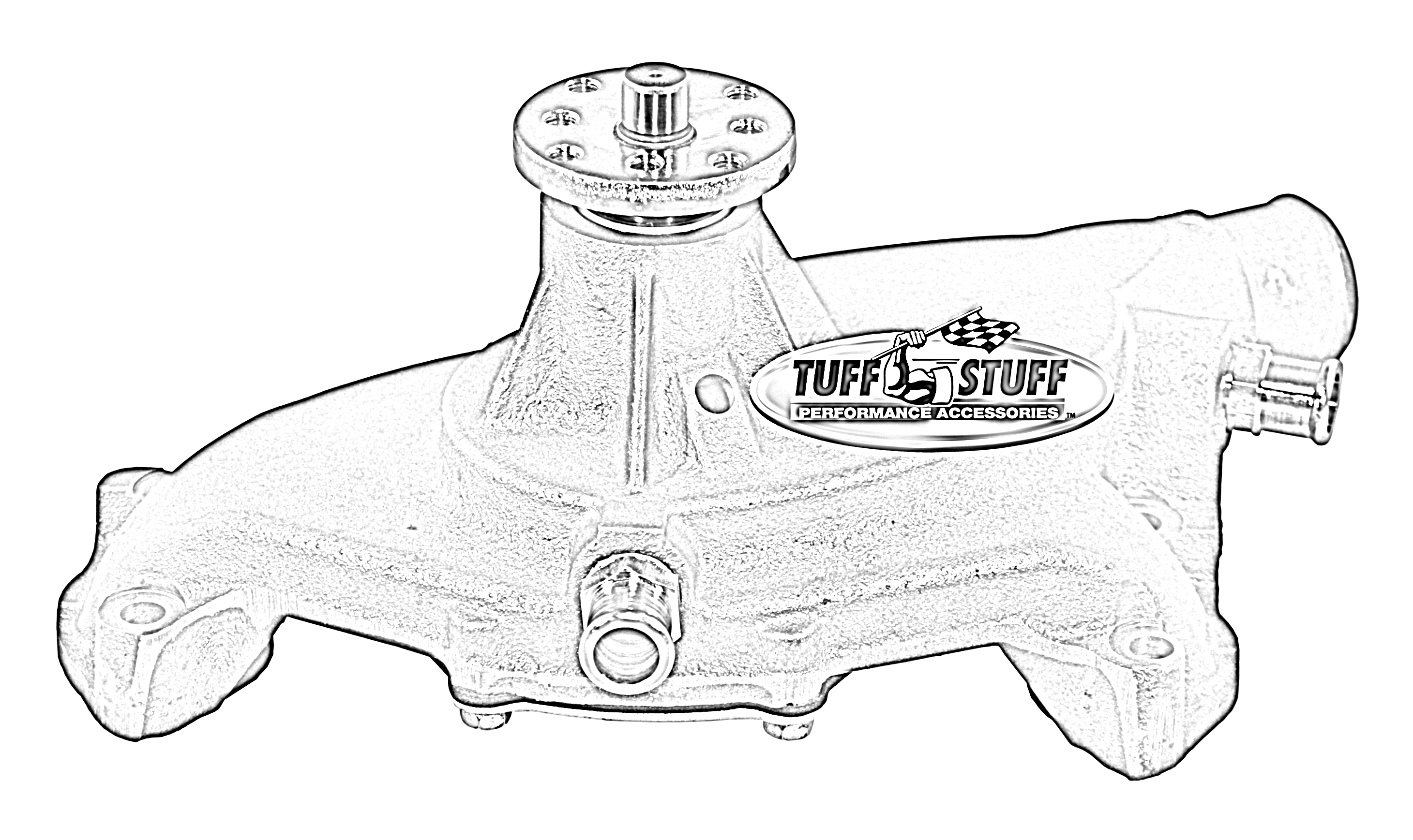 Tuff Stuff Performance Ncyellow Engine Water Pump