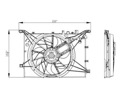 TYC 622140 Engine Cooling Fan Clutch Bearing Bracket
