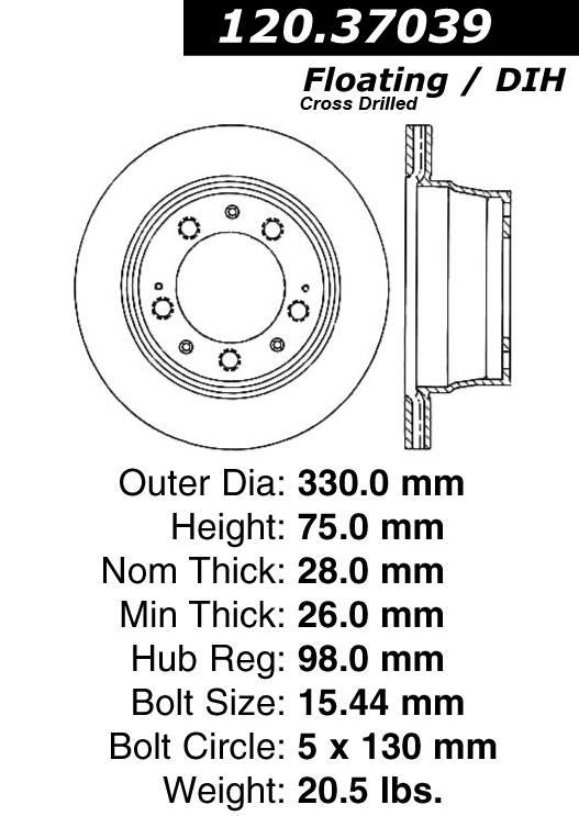 centric 120.37039 centric Parts 120.37039 Premium Brake