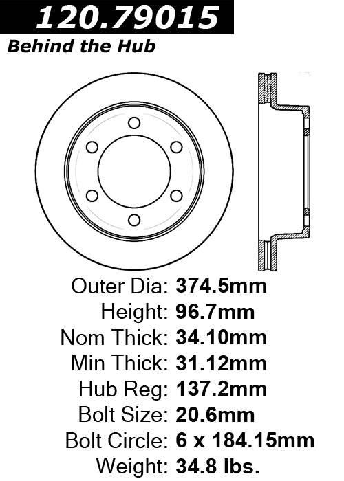 centric 120.79015 Centric Parts 120.79015 Premium Brake