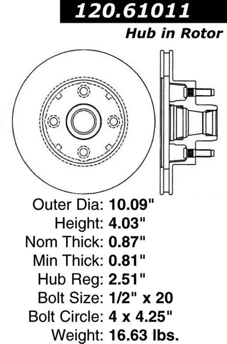 centric 120.61011 centric Parts 120.61011 Premium Brake