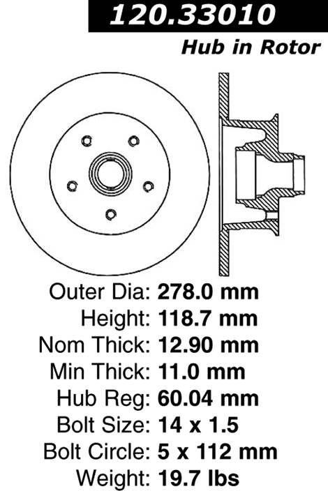 centric Parts 120.33010 Premium Brake Rotor With E-Coating