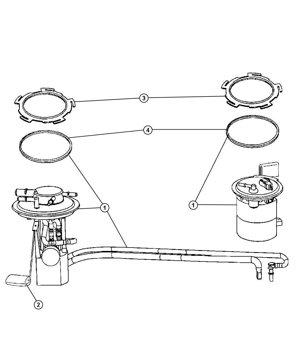 Mopar Performance 68028057AB MOPAR Module Fuel Pump/l