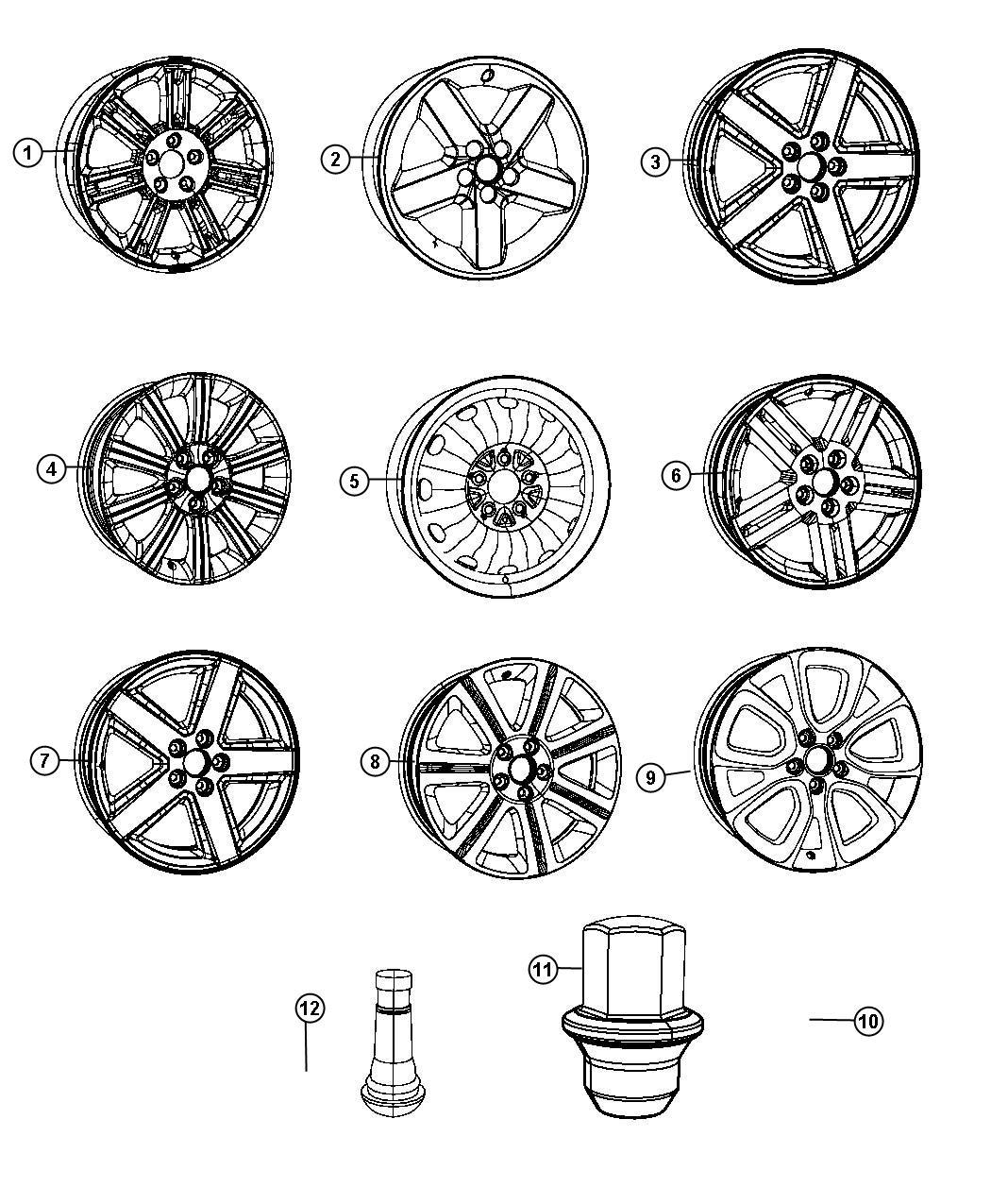 Mopar Performance 1kw34pakaa Mopar Wheel