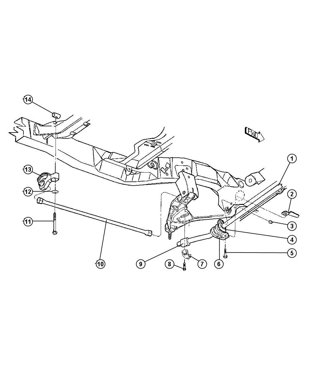 Mopar Performance Ab Suspension Stabilizer Bar