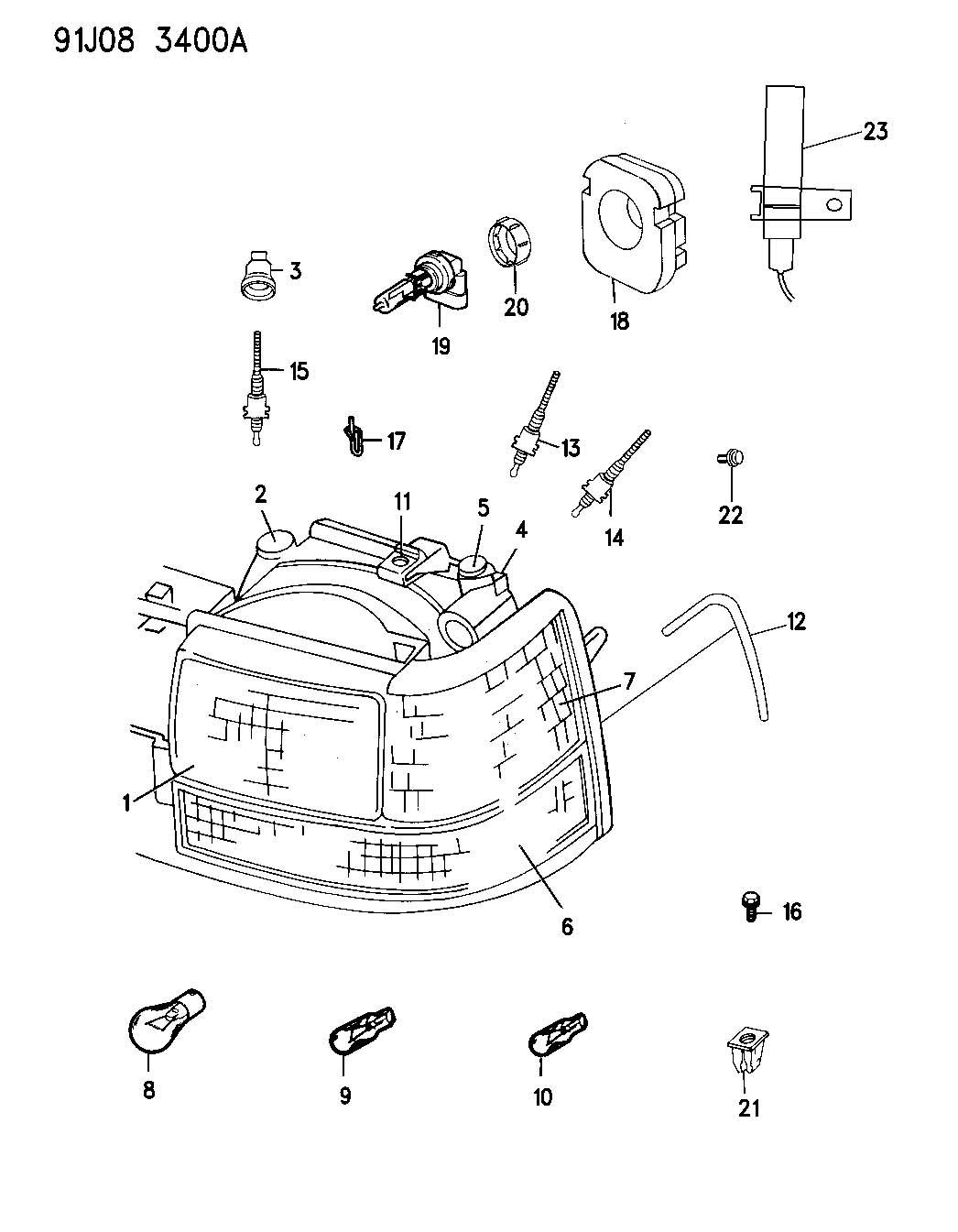 Mopar Performance Headlight Gears