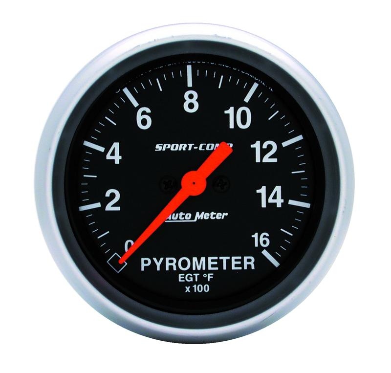 Autometer 3544 Sportcomp Electric Pyrometer Gauge Kit 2 5 8 In 0