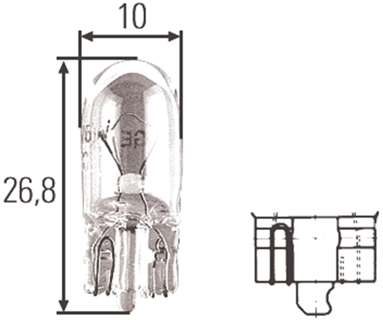 Hella H T3 25 Incandescent Bulb