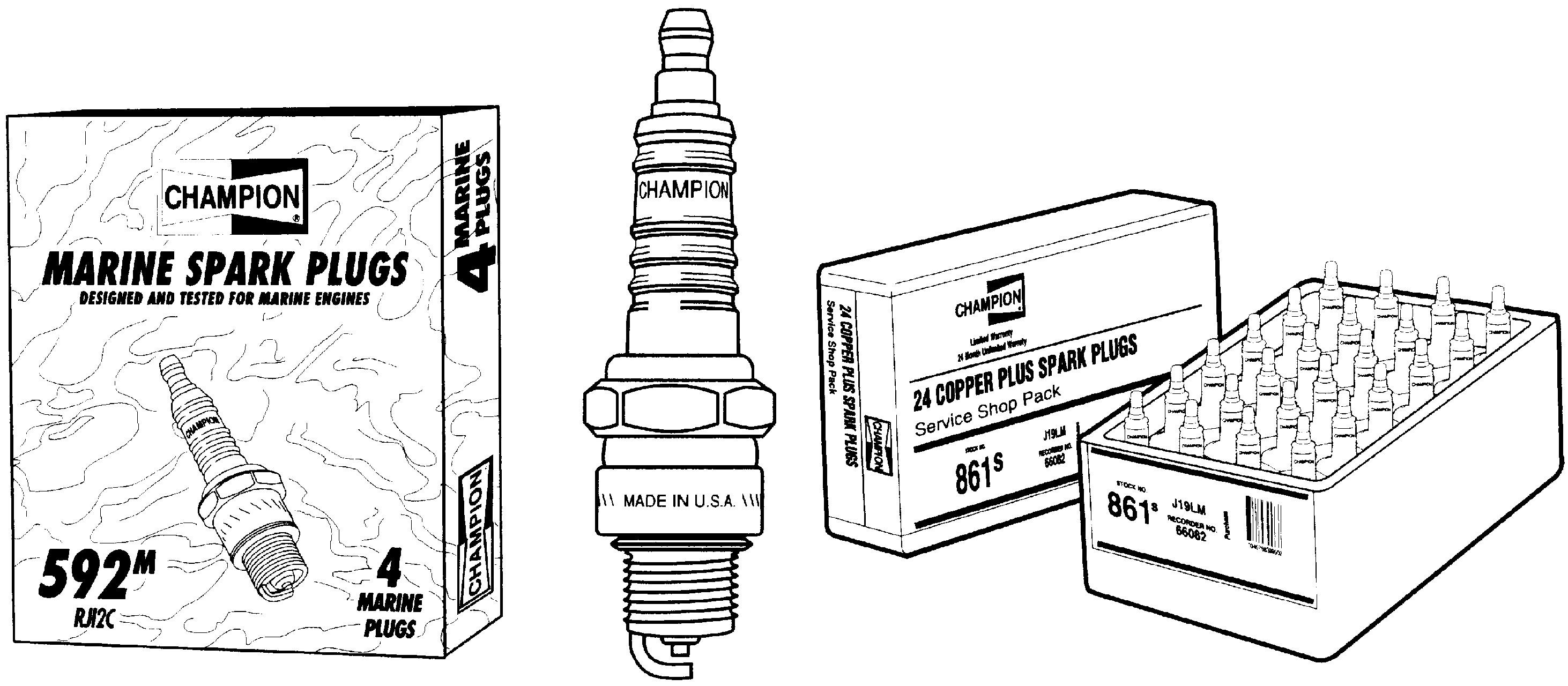Champion Spark Plugs XC12PEPBS Spark Plug(s)-Stock #955S