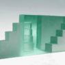 Ann Wolff TRAP III 2015 h 20 x 18 x 52 cm, kiln casted glass