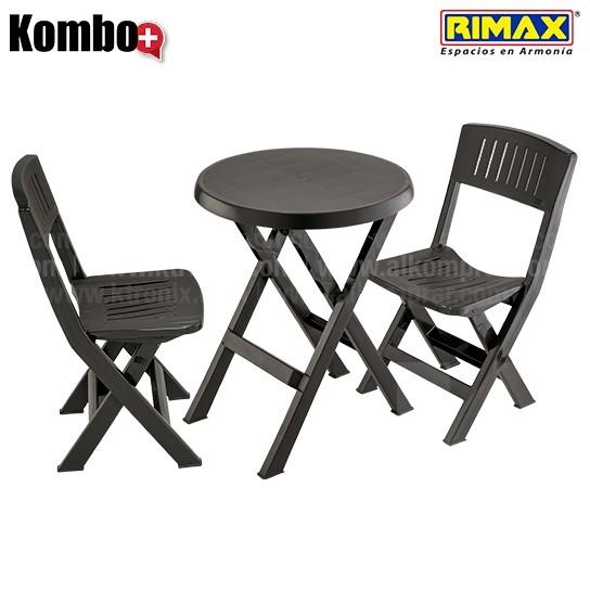 Kombo Plegable RIMAX 1 Mesa redonda  2 Sillas Alkosto