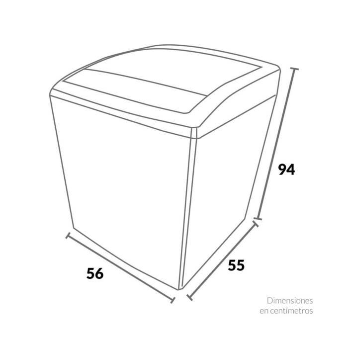Lavadora CHALLENGER Carga Superior 10.5 Kilogramos CW57105