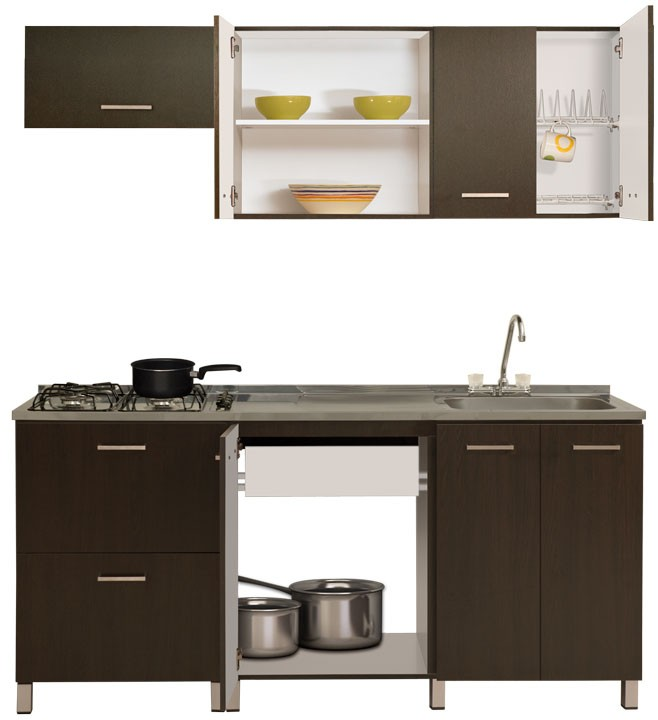 Cocina MODUART Gabinete Superior  Inferior Izquierdo 20117 Wengue Alkosto Tienda Online