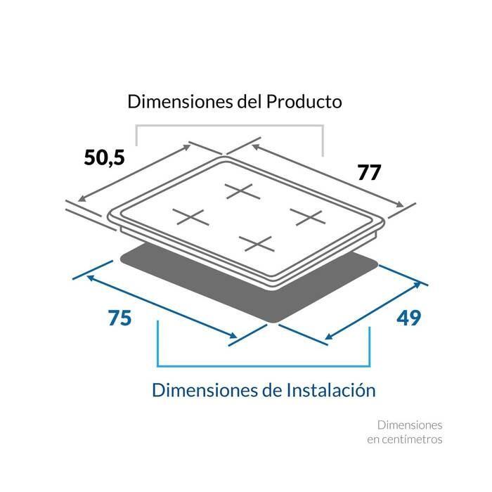 Cubierta de Empotrar CHALLENGER eléctrica de inducción