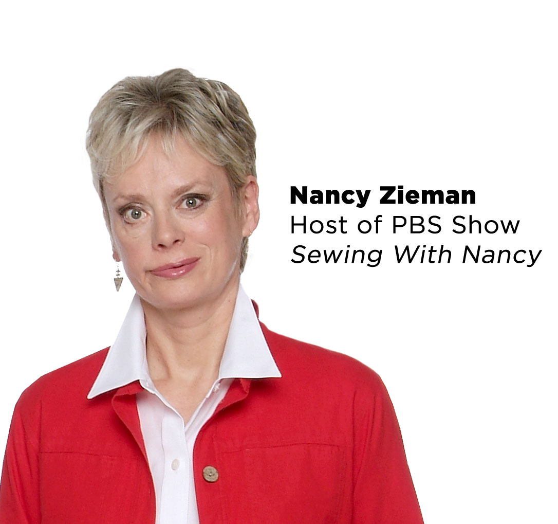 An image of Nancy Zieman with text