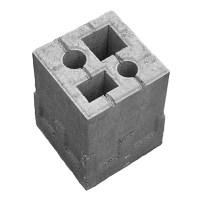 Zaun-Fundamentstein 4in1 (Grau, 19 x 19 x 25 cm, Beton ...