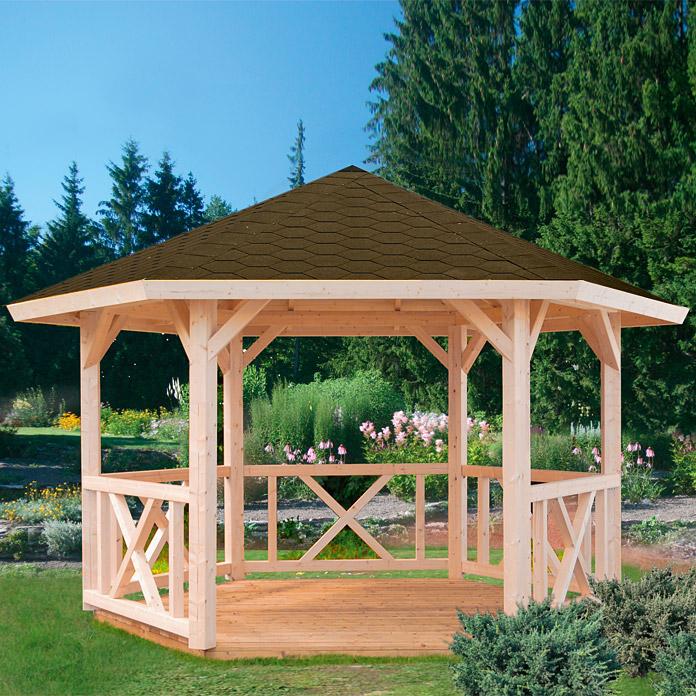 Fantastisch Palmako Gartenpavillon Betty (durchmesser 3,37 M, Fichte