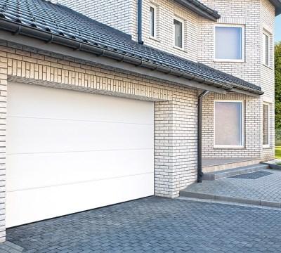 solid elements garagentor (b x h: 2.500 x 2.125 mm, weiß) | bauhaus