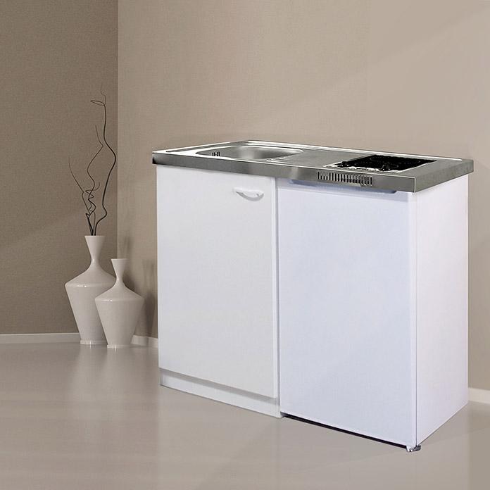 Spülbecken Küche Bauhaus   Respekta Küchenzeile 205 Cm Weiß eiche York Kaufen Bei Obi
