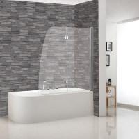Badewannenaufsatz Klar (125 x 140 cm, 2-tlg., Wonderclean ...
