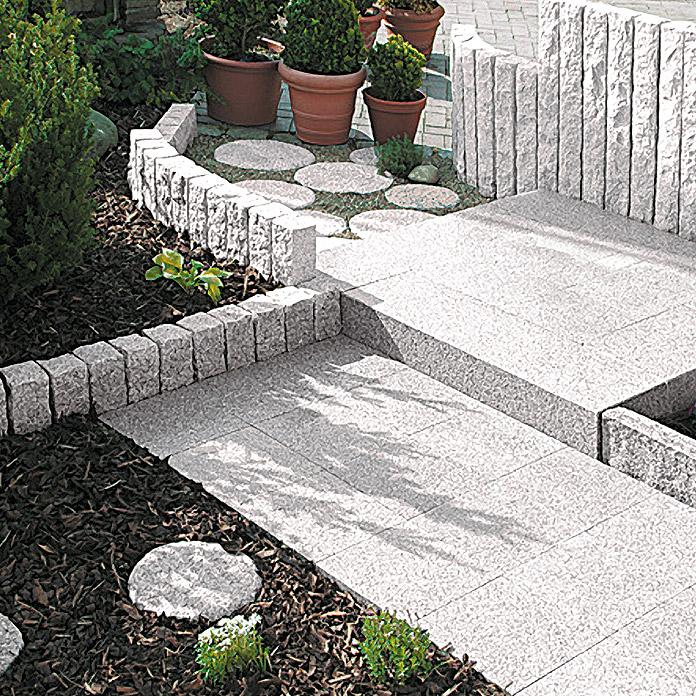 Gut gemocht Granitsteine Rasenkante Verlegen Anleitung | übergang Terrasse TO08