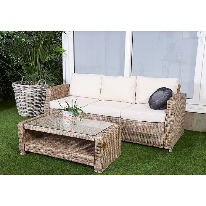 bauhaus sofas cama big sofa island greige gotland 3 plazas ancho 80 cm marron 8303 null icdg