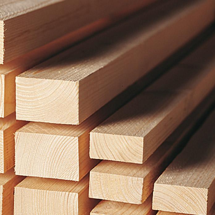 Listn de madera 300 cm x 48 cm x 24 cm  Abeto rojo