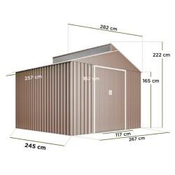 Hoggar Caseta para jardín Bjorn L x An: 285 x 257 cm