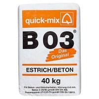 Quick-Mix Estrichbeton B 03 (40 kg, Chromatarm) | 5547 ...