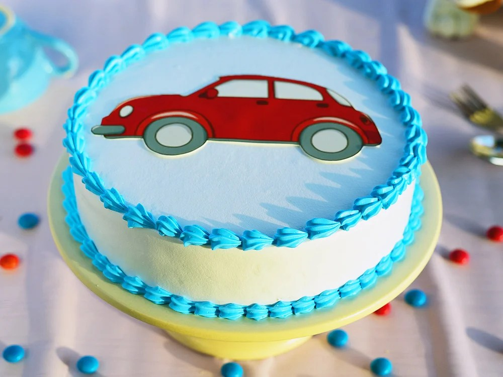 Place the 8 square cake on one side of the cake. Car Cakes Car Shaped Cakes For Boys Cars Theme Birthday Cakes 2400