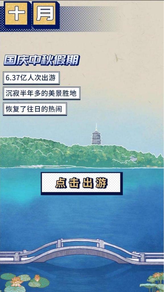 在10月的国庆节,6.37亿人前往中国,这一流行病再次震惊世界。