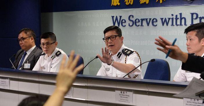 警方記者會開足3個鐘 史上最長   政事   巴士的報