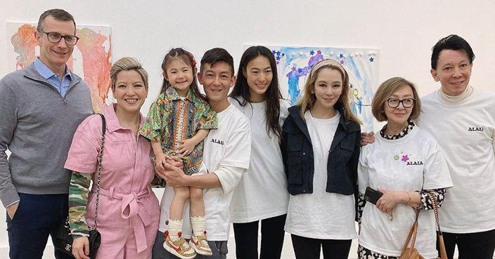全家總動員力撐 陳冠希囡囡3歲生日開藝術展 | 娛圈事 | 巴士的報