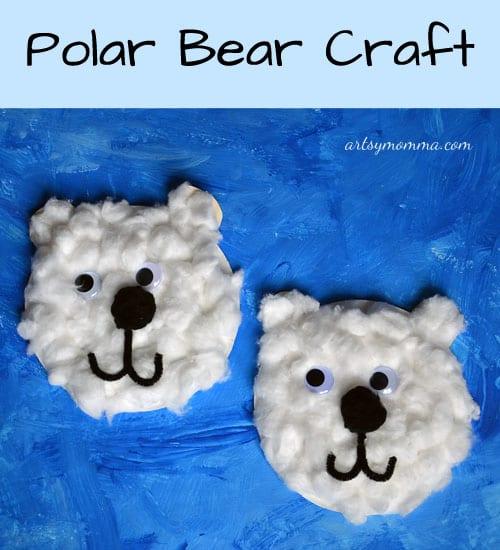 pyssel, pysseltips, pyssla, skapa, barnpyssel, pyssel för barn, papperstallrik, isbjörn, djur, djurpyssel
