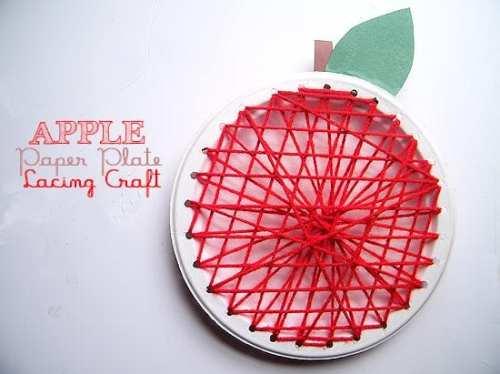 pyssel, pysseltips, pyssla, skapa, barnpyssel, pyssel för barn, papperstallrik, sykort, äpple