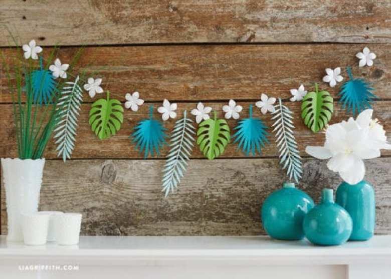 pyssel, pysseltips, pyssla, papper, papperspyssel, pyssla med papper, girland, blommor, blad, växter