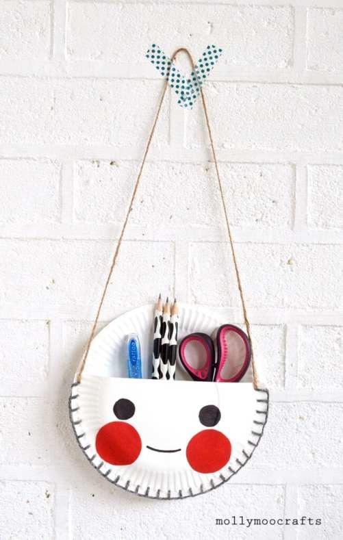 pyssel, pysseltips, pyssla, skapa, barnpyssel, pyssel för barn, papperstallrik , bra förvaring, snygg förvaring