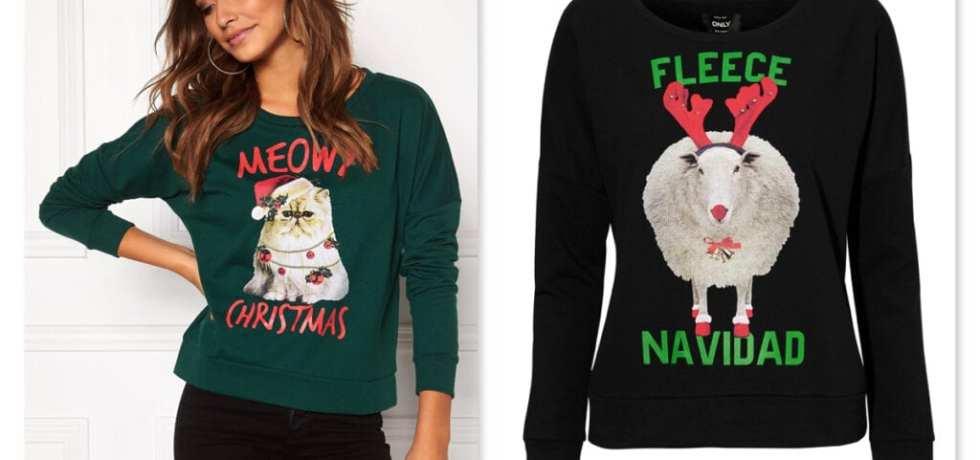 mode, skönhet, tröja, stickad tröja, modetips, jultröja, jultröjor, Ugly Christmas Sweater, fula jultröjor, jul, julen, inspiration, julklappstips, Only