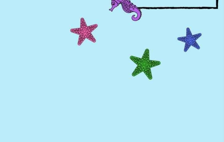 aktiviteter för barn, barnaktiviteter, pyssla och lek, knep och knåp, rita, bild, följa instruktioner, havet, på havets botten, havet är djupt