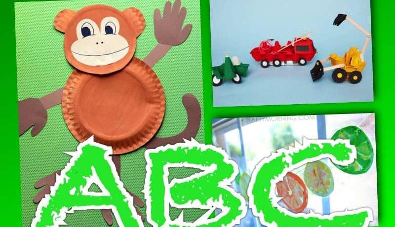 barnpyssel, pyssel för barn, bokstavspyssel