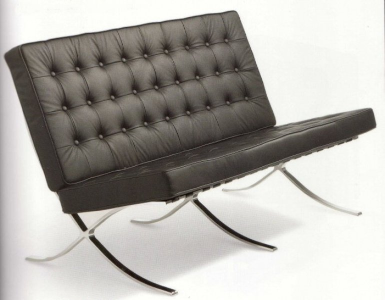 Mies Van Der Rohe Barcelona Sofa Chair Bauhaus Italy