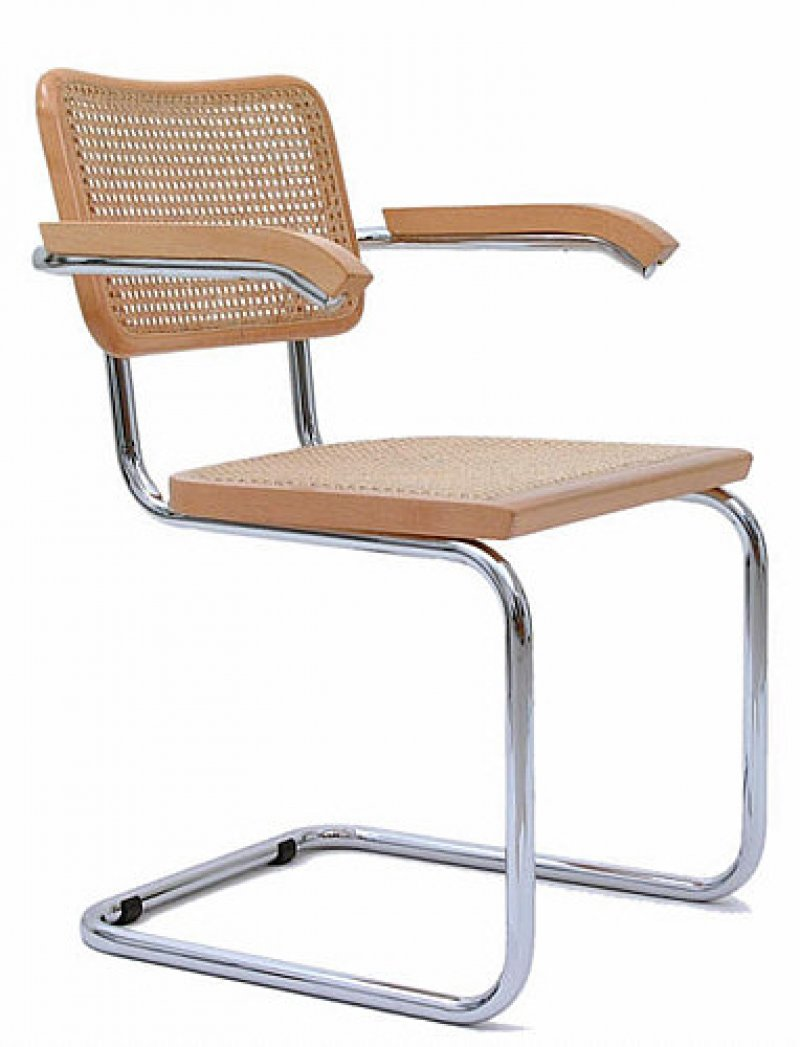 marcel breuer cesca chair with armrests white barber headrest bauhaus italy