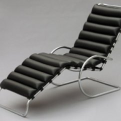 Sofa Mart Leather Chairs Sofala Nsw Camping Grounds Mr Chaise Lounge - Ludwig Mies Van Der Rohe Bauhaus Italy