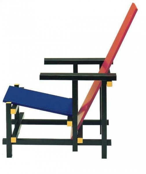 Red And Blue Chair By Gerrit Thomas Rietveld Bauhaus Italy