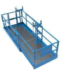 genie lift tools material carrier attachment for scissor lifts accommodates a wide range of materials [ 1280 x 720 Pixel ]