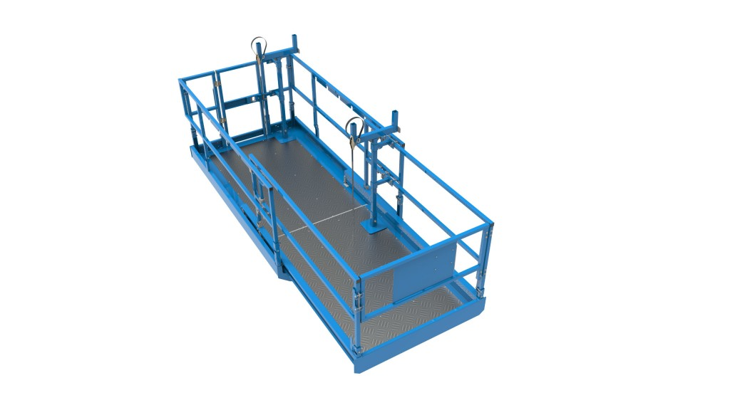 hight resolution of genie lift tools material carrier attachment for scissor lifts accommodates a wide range of materials